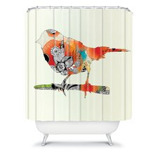 Iveta Abolina Polyester Little Bird Shower Curtain