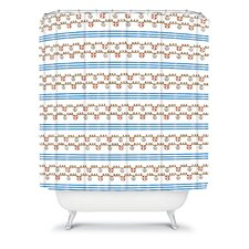 Jennifer Denty Woven Polyester Anchor Small Shower Curtain