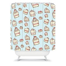 Jennifer Denty Woven Polyester Cake Slices Shower Curtain