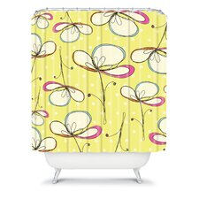 Rachael Taylor Polyester Floral Umbrellas Shower Curtain