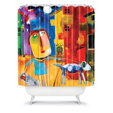 Robin Faye Gates Polyester Sylvia Needs Eggs Shower Curtain