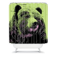 Romi Vega Polyester Bear Shower Curtain