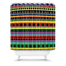 Romi Vega Polyester Heavy Pattern Shower Curtain
