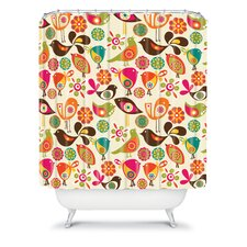 Valentina Ramos Polyester Little Birds Shower Curtain