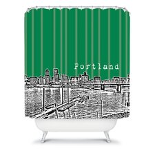 Bird Ave Woven Polyester Portland Shower Curtain