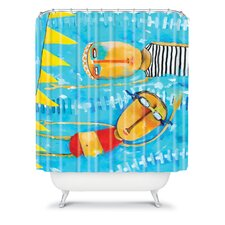 Robin Faye Gates Polyester Swimming Is Hard Shower Curtain