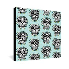<strong>DENY Designs</strong> Andi Bird Sugar Skull Fun Gallery Wrapped Canvas