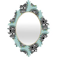 <strong>DENY Designs</strong> Andi Bird Sugar Skull Fun Baroque Mirror
