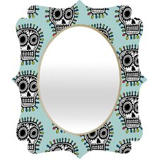 Andi Bird Sugar Skull Fun Quatrefoil Mirror