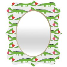 <strong>DENY Designs</strong> Andi Bird Alligator Love Quatrefoil Mirror