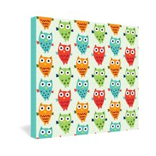 Andi Bird Owl Fun Gallery Wrapped Canvas