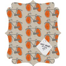 <strong>DENY Designs</strong> Mummysam Bicycles Quatrefoil Magnet Board