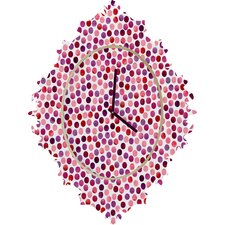 Garima Dhawan Watercolor Dots Wall Clock