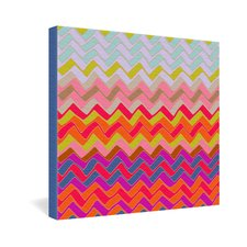 Sharon Turner Geo Chevron Gallery Wrapped Canvas