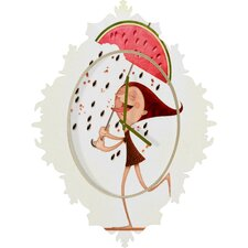 Jose Luis Guerrero Watermelon Wall Clock