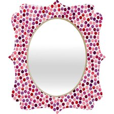 <strong>DENY Designs</strong> Garima Dhawan Watercolor Dots Berry Quatrefoil Mirror