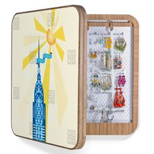 <strong>DENY Designs</strong> Jennifer Hill New York City Chrysler Building Bling Box