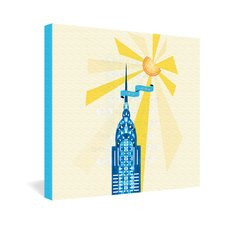 <strong>DENY Designs</strong> Jennifer Hill New York City Chrysler Building Gallery Wrapped Canvas