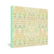 Pattern State Triangle Lake Canvas Wall Art