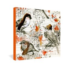 <strong>DENY Designs</strong> Randi Antonsen Love Birds Canvas Wall Art