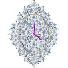 Jennifer Denty Genevieve Floral Wall Clock