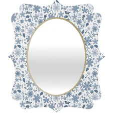 <strong>DENY Designs</strong> Jennifer Denty Genevieve Florals Big Wall Mirror