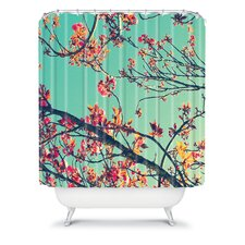 Shannon Clark Polyester Summer Bloom Shower Curtain