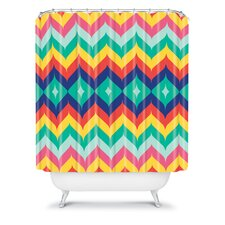 Juliana Curi Woven Polyester Chevron 5 Shower Curtain
