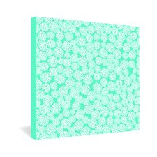 <strong>DENY Designs</strong> Joy Laforme Dahlias Seafoam Canvas Wall Art