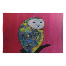 Clara Nilles Owl on Lipstick Novelty Rug