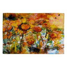 <strong>DENY Designs</strong> Ginette Fine Art Abstract Sunflowers Novelty Rug