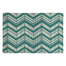 Heather Dutton Weathered Blue Chevron Area Rug