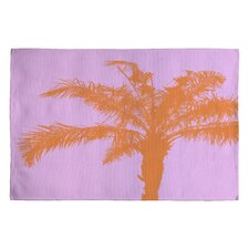 Deb Haugen Orange Palm Novelty Rug