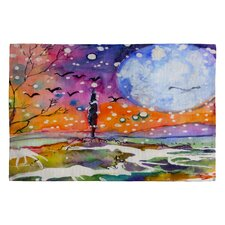 <strong>DENY Designs</strong> Ginette Fine Art Big Moon Novelty Rug