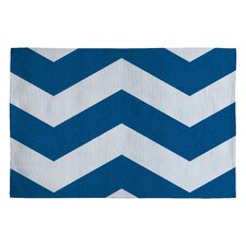 Holli Zollinger Denim Chevron Rug