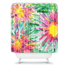 Joy Laforme Floral Confetti Shower Curtain