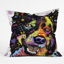 Dean Russo Border Collie Throw Pillow