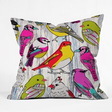 Mary Beth Freet Couture Home Birds Throw Pillow