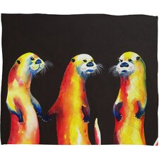 <strong>DENY Designs</strong> Clara Nilles Flaming Otters Polyester Fleece Throw Blanket