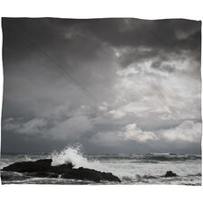 <strong>DENY Designs</strong> Bird Wanna Whistle White Water Polyester Fleece Throw Blanket