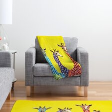 Clara Nilles Jellybean Giraffes Throw Blanket
