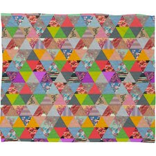 Bianca Green Lost in Pyramid Polyester Fleece Throw Blanket