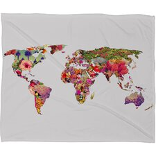 Bianca Green Its Your World Polyester Fleece Throw Blanket