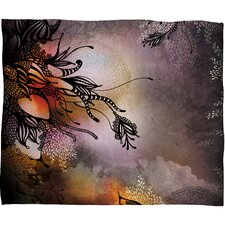 Iveta Abolina Purple Rain Polyester Fleece Throw Blanket