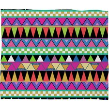 Bianca Green Zigzag Polyester Fleece Throw Blanket