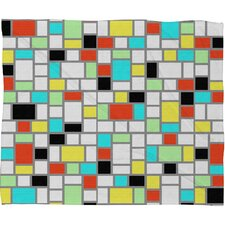 Jacqueline Maldonado Geo Square Polyester Fleece Throw Blanket