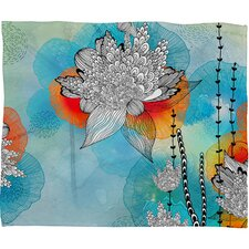 Iveta Abolina Coral Polyester Fleece Throw Blanket
