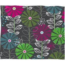 Khristian A Howell Cape Town Blooms Polyester Fleece Throw Blanket