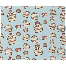Jennifer Denty Cake Slices Polyester Fleece Throw Blanket