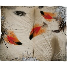 Iveta Abolina Feather Dance Polyester Fleece Throw Blanket